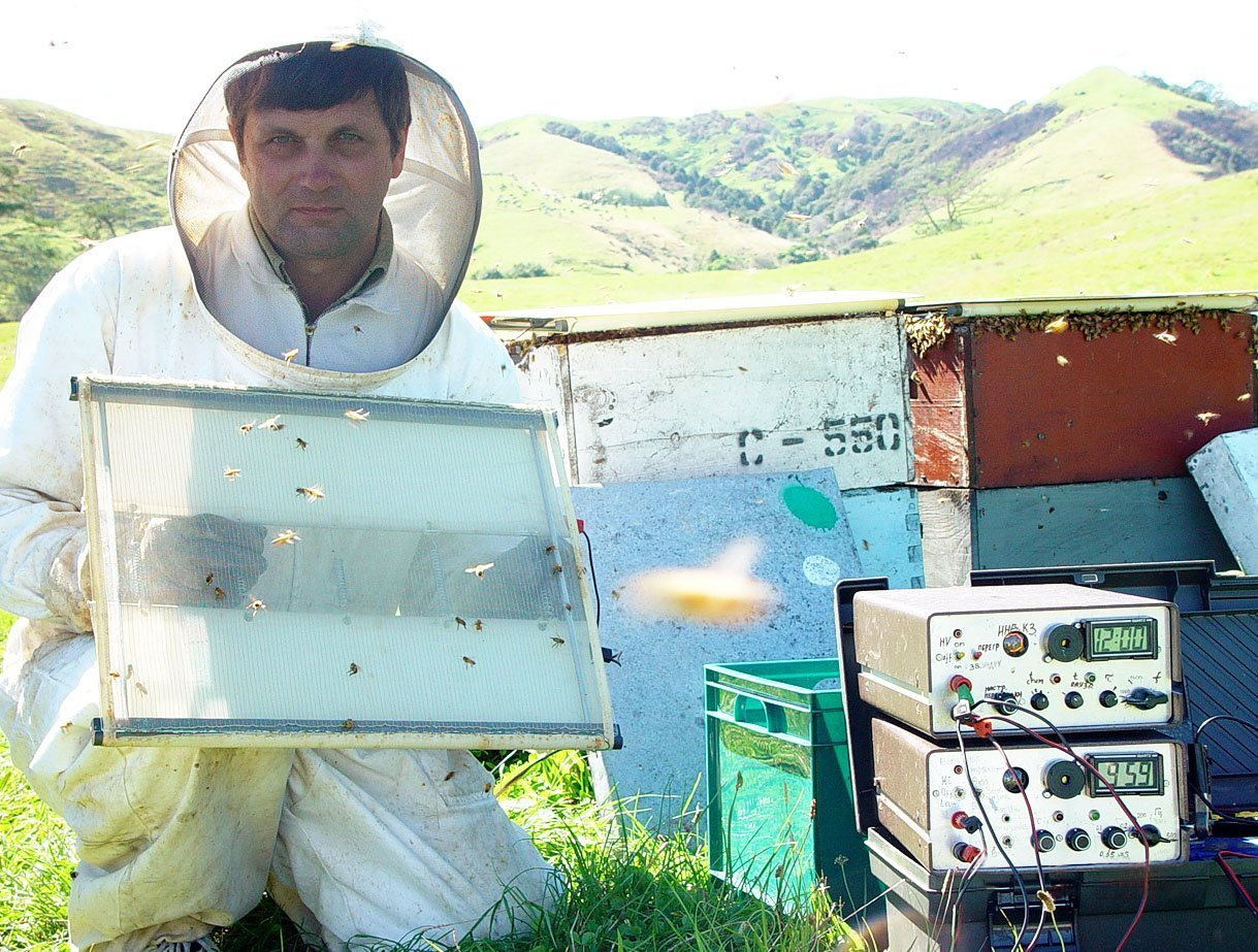 Nikolai with his bee venom device